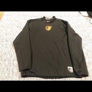 Black Nike Baltimore Orioles Pullover - Size XL